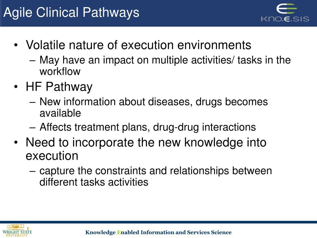 Agile Clinical Pathways