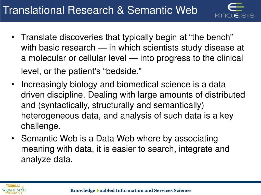Translational Research & Semantic Web