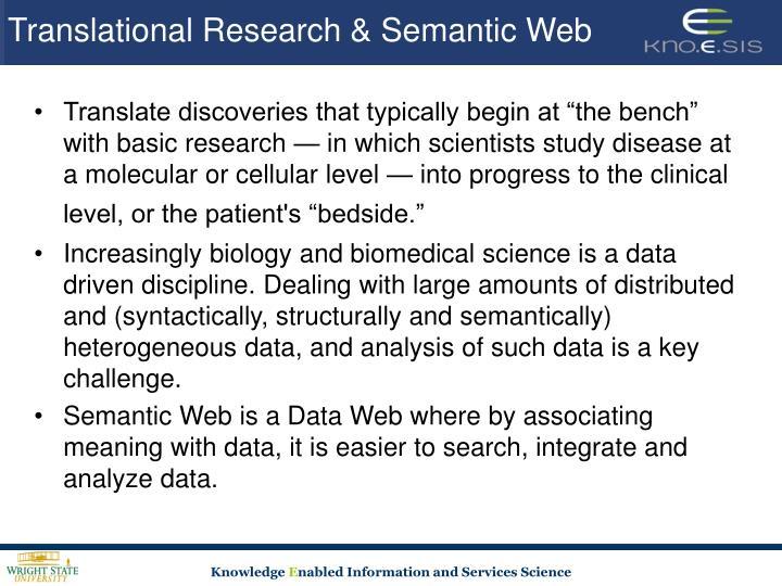 Translational research semantic web