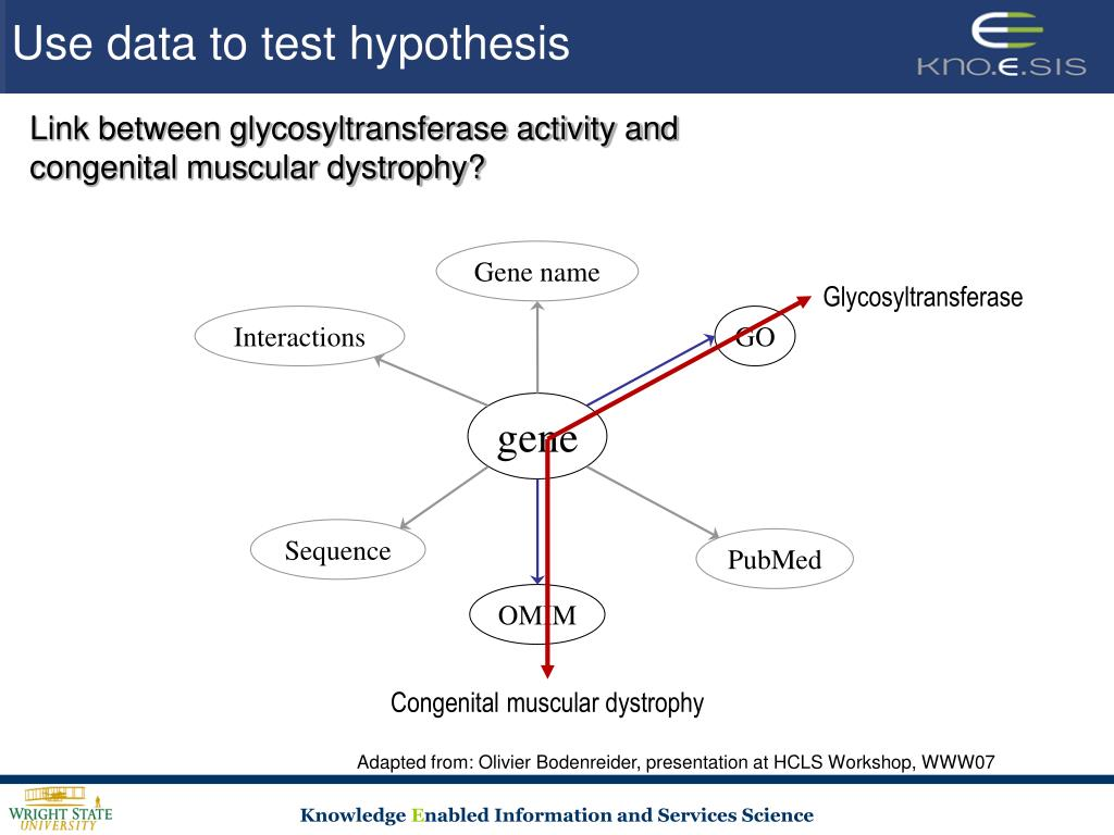 Use data to test hypothesis