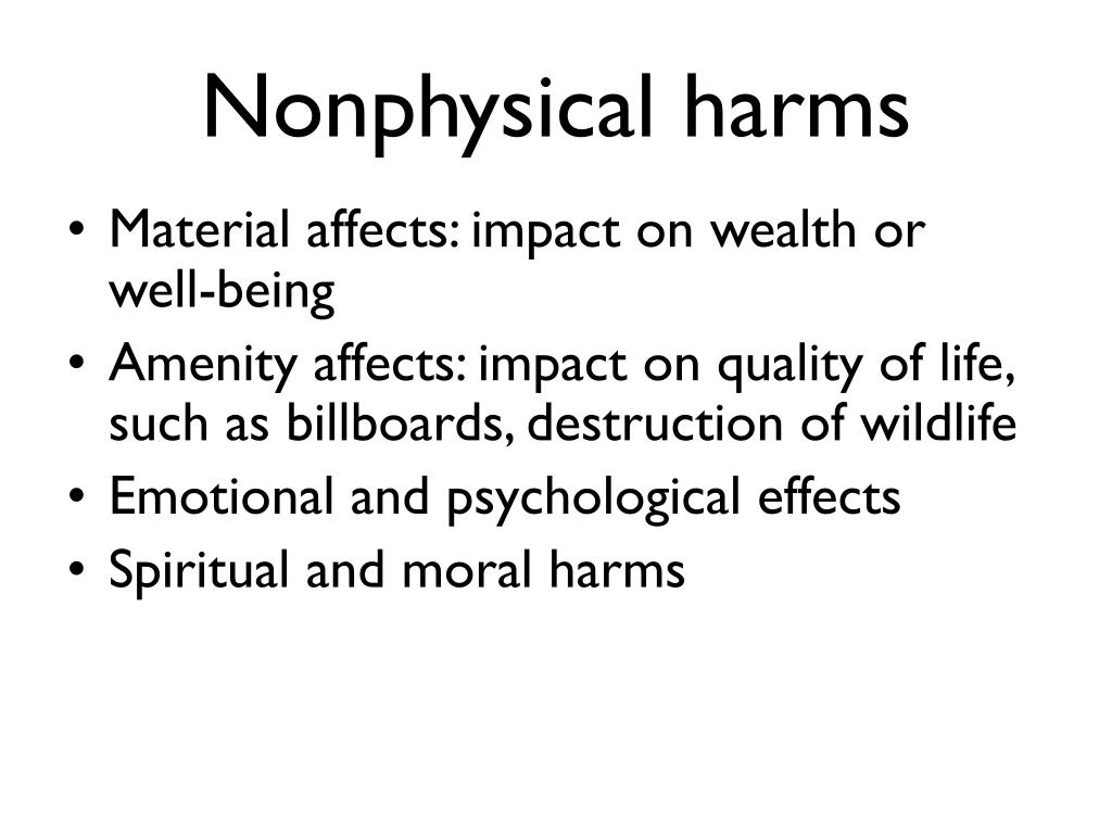 Nonphysical harms