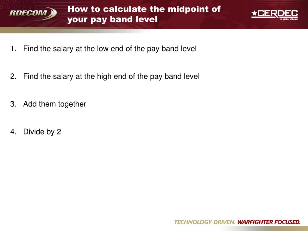 How to calculate the midpoint of your pay band level