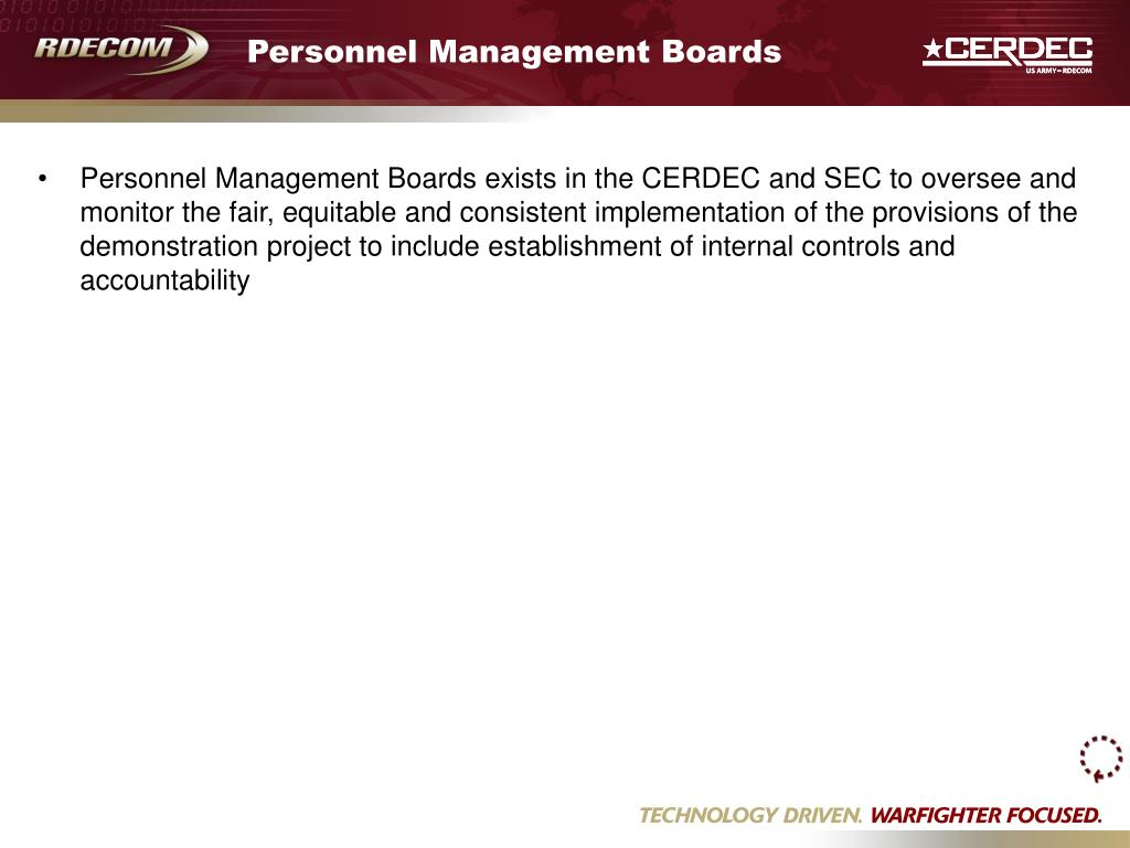 Personnel Management Boards