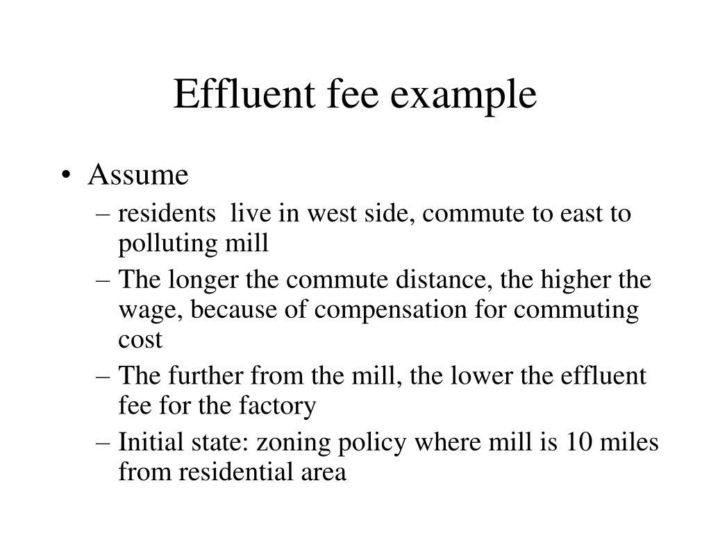 Effluent fee example