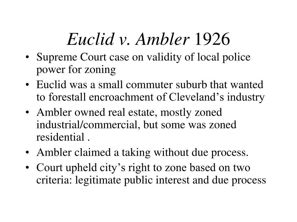 Euclid v. Ambler