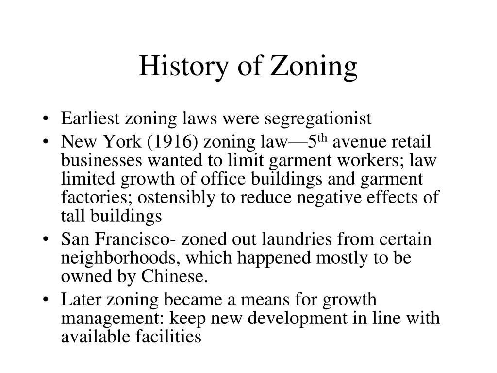 History of Zoning