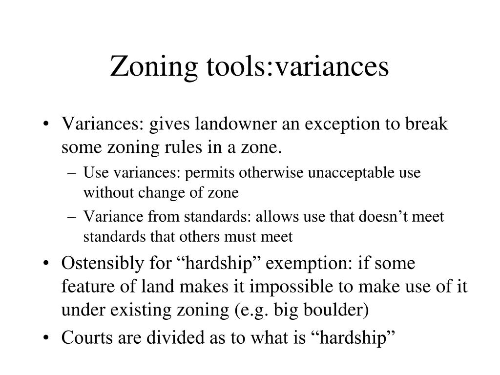 Zoning tools:variances