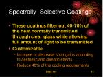 spectrally selective coatings