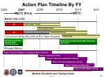 action plan timeline by fy