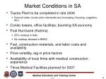 market conditions in sa