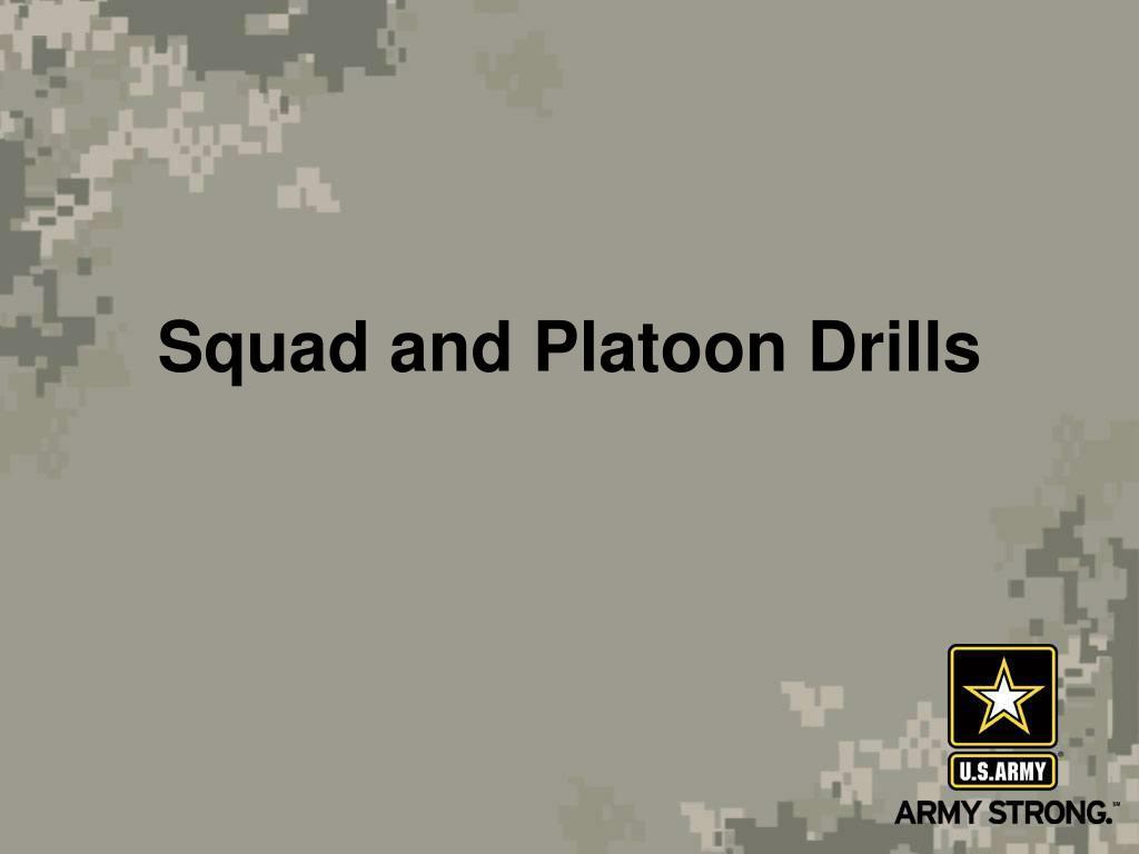 squad and platoon drills l.