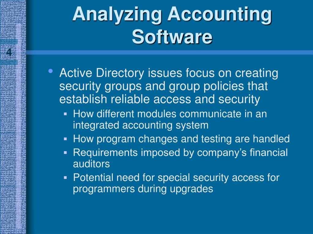 Analyzing Accounting Software