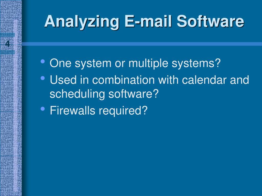 Analyzing E-mail Software