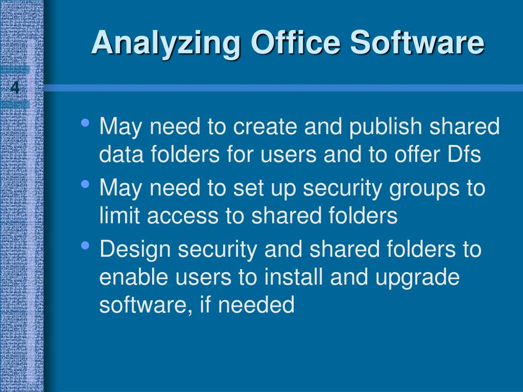 Analyzing Office Software
