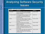 analyzing software security issues57