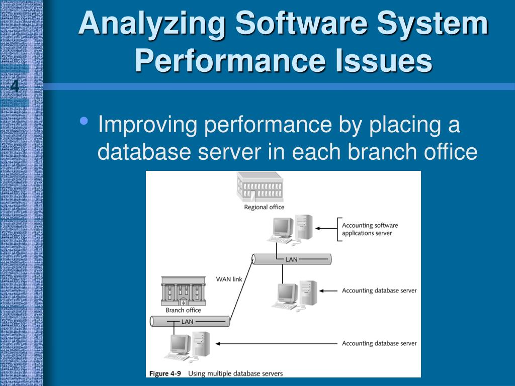 Improving performance by placing a database server in each branch office