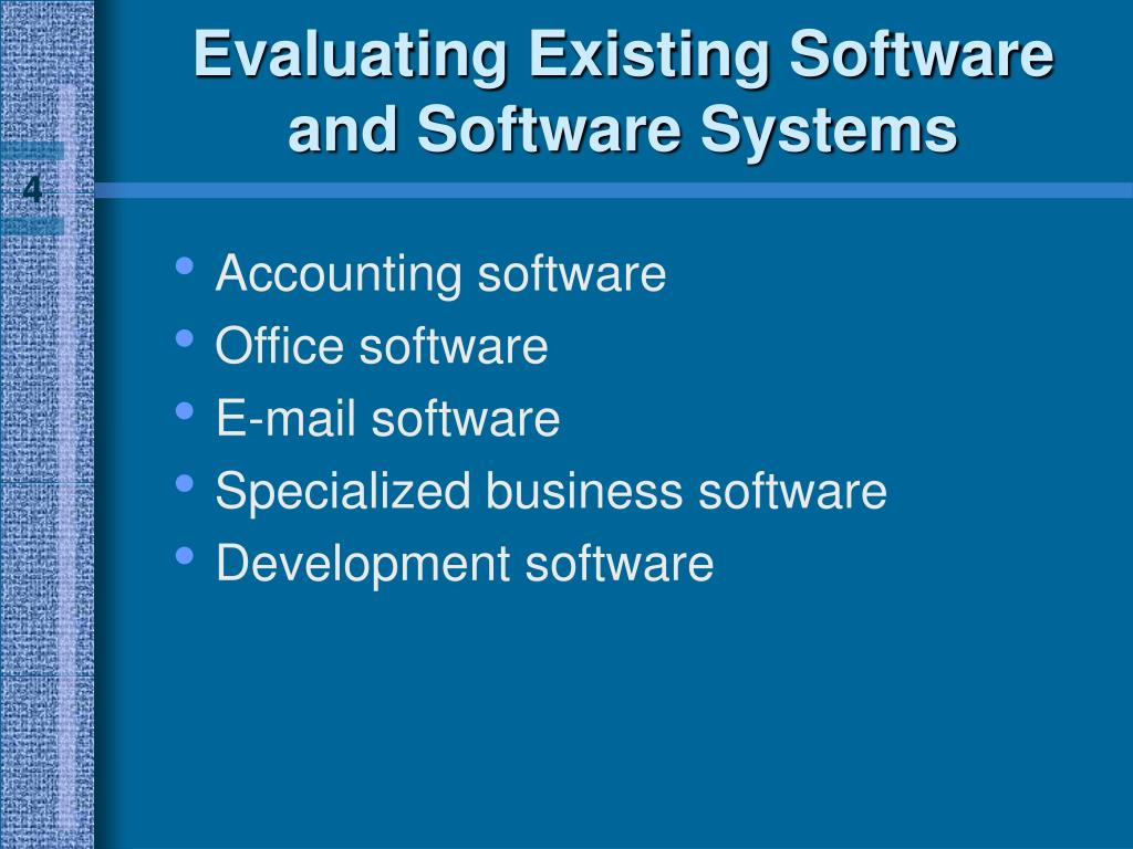 Evaluating Existing Software and Software Systems