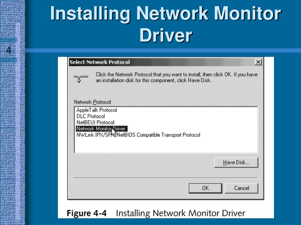 Installing Network Monitor Driver