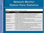 network monitor station pane statistics