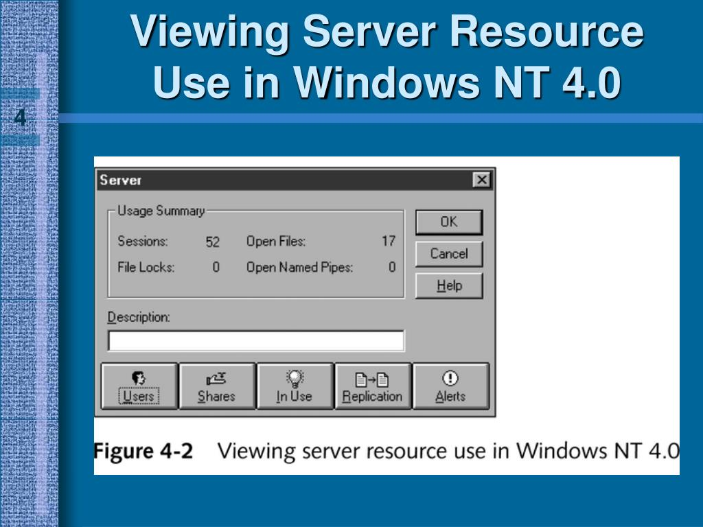 Viewing Server Resource Use in Windows NT 4.0