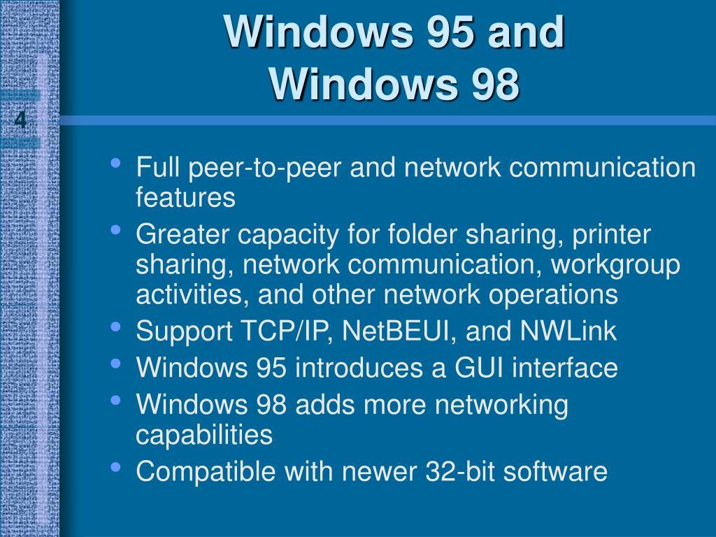 Windows 95 and