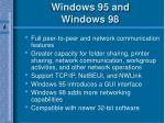 windows 95 and windows 98