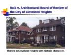 reid v architectural board of review of the city of cleveland heights