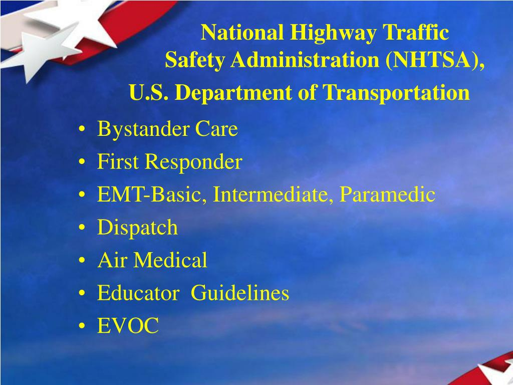 an overview of the national highway traffic safety administration regulations National highway traffic safety administration (nhtsa) summary of the pga process for filing the national highway traffic safety administration regulations a.