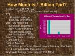 how much is 1 billion tpd