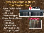 how scaleable is nt the cluster story