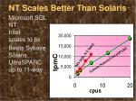 nt scales better than solaris