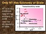 only nt has economy of scale