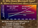 q why does microsoft care a billions of clients need millions of servers