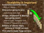 scalability is important