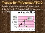 transaction throughput tpc c