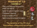windows nt 5 0 intellimirror