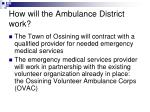 how will the ambulance district work