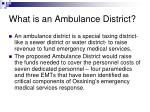 what is an ambulance district