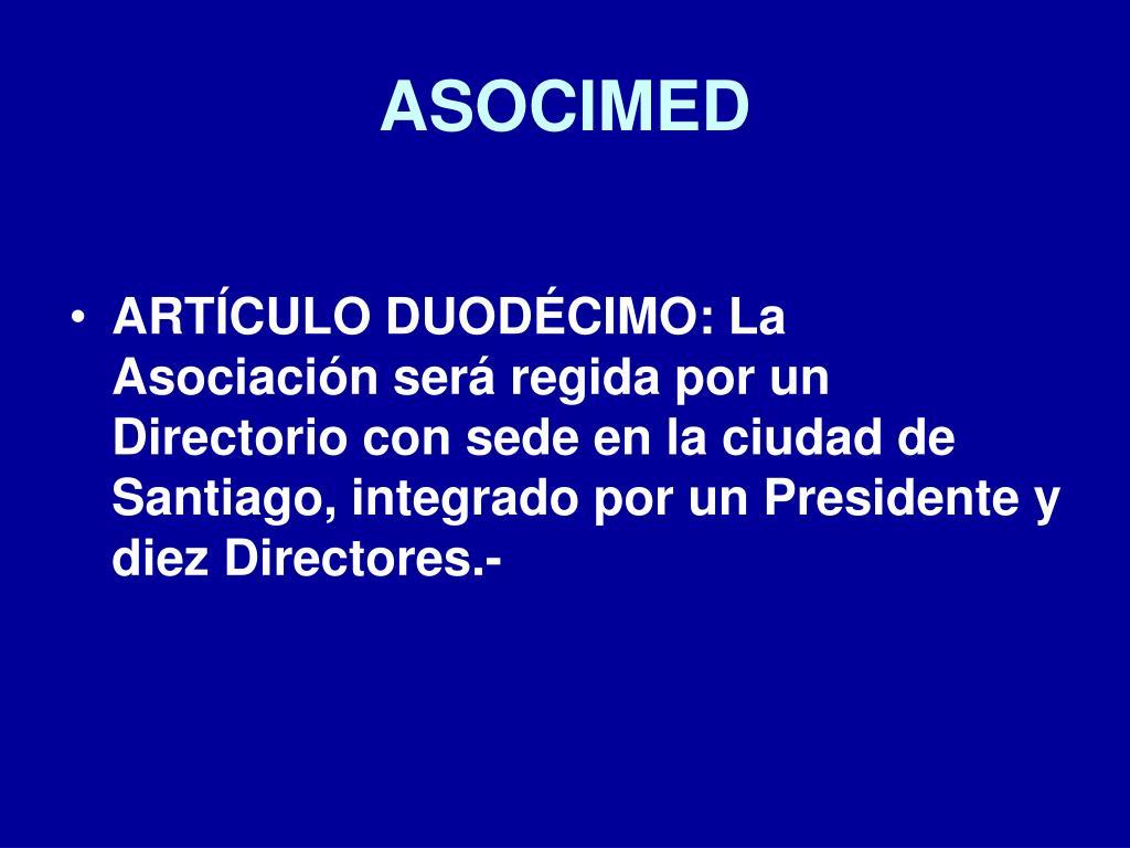 ASOCIMED