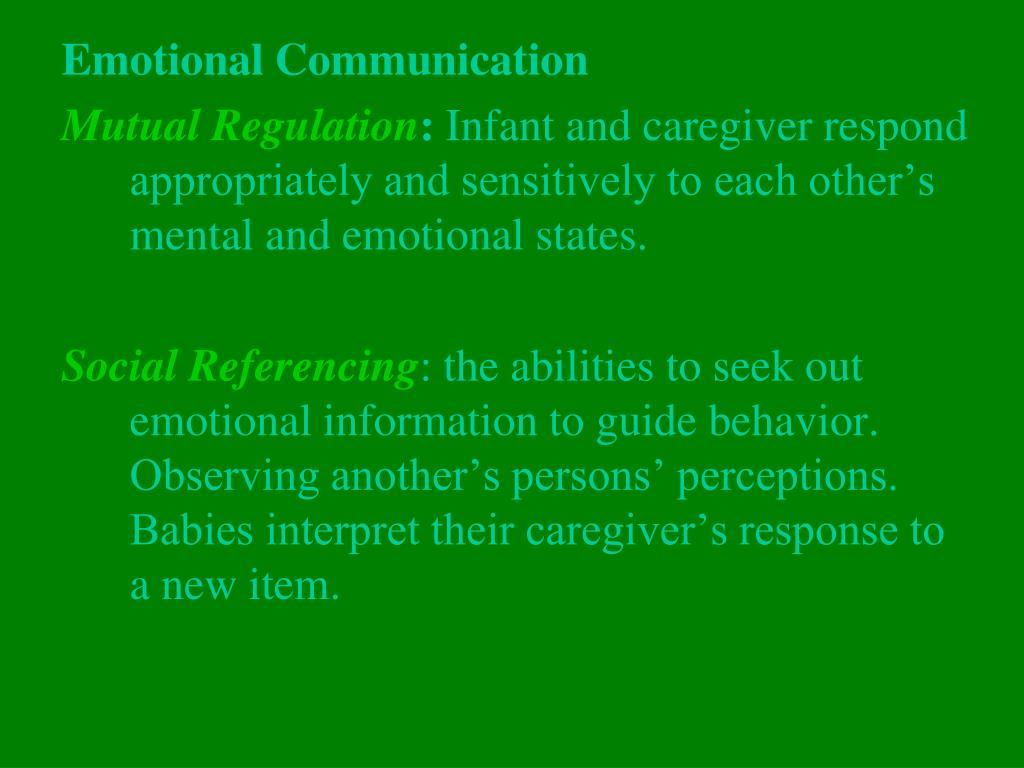Emotional Communication