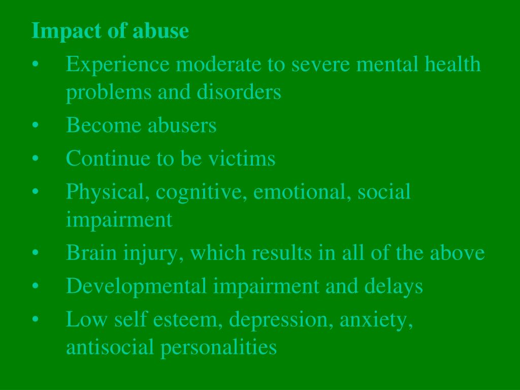 Impact of abuse