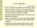 love and sex