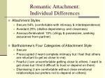 romantic attachment individual differences