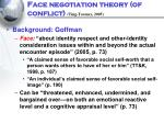 face negotiation theory of conflict ting toomey 2005
