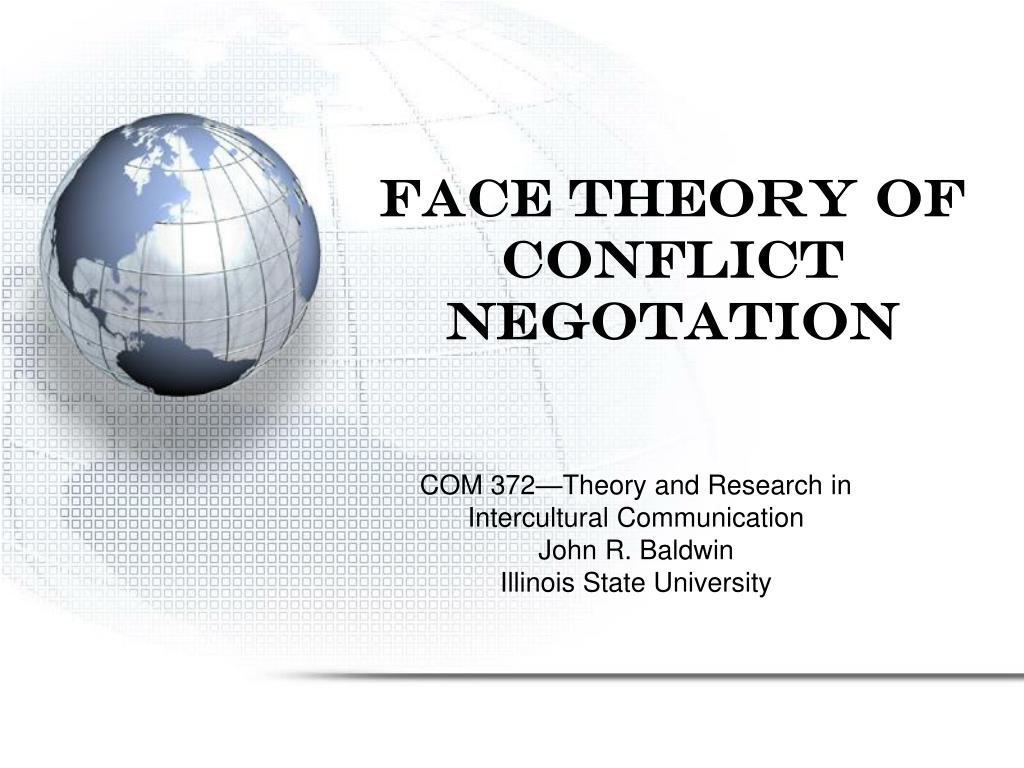 face theory of conflict negotation l.