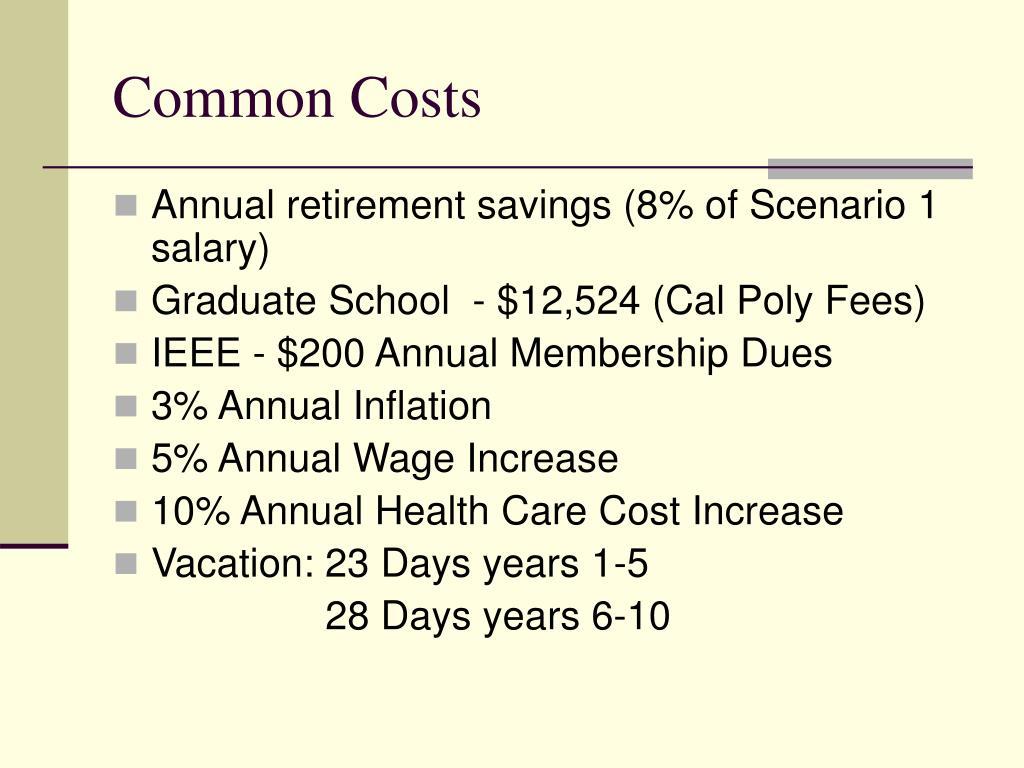 Common Costs