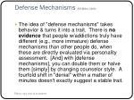 defense mechanisms bill miller 2009