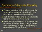 summary of accurate empathy