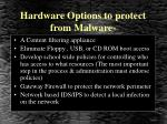 hardware options to protect from malware
