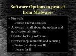 software options to protect from malware